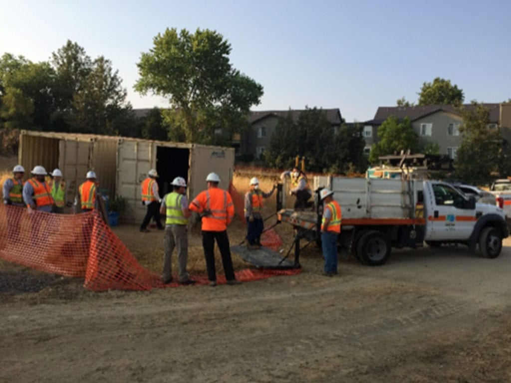 Photo of construction team starting work on State Highway 65 project